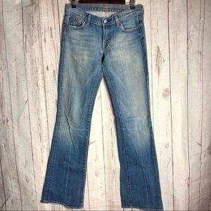 74AMK | Medium Wash Bootcut Jeans Size 28